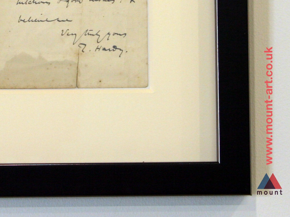 Framing historical documents - Thomas Hardy