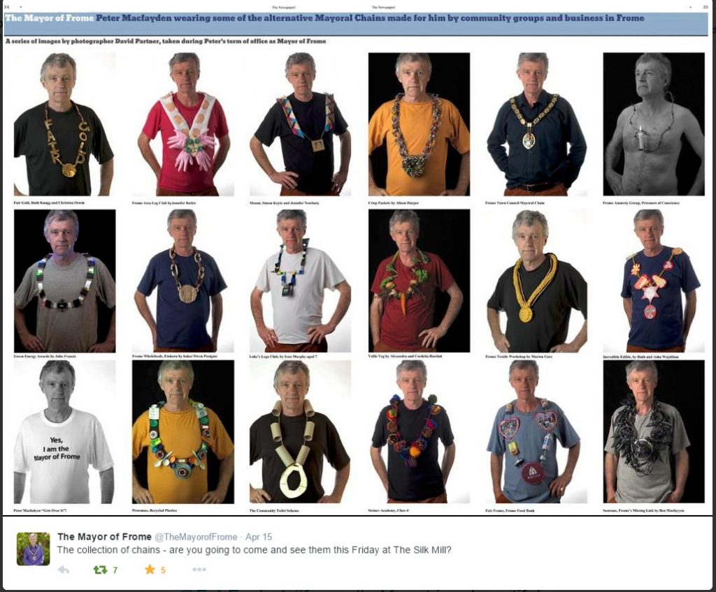 Peter Macfadyen Frome mayor chains